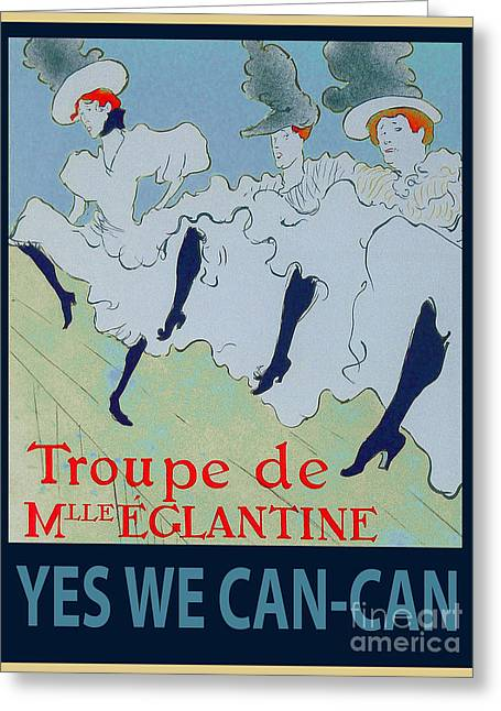 Yes We Can Greeting Cards - Yes We Can-Can Greeting Card by Roy Kaelin
