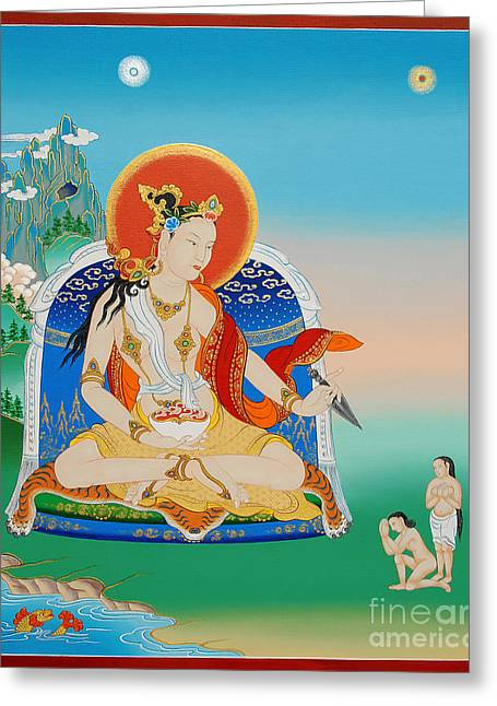 Yeshe Tsogyal Greeting Card by Sergey Noskov