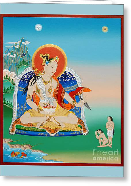 Sun Rays Paintings Greeting Cards - Yeshe Tsogyal Greeting Card by Sergey Noskov