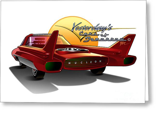 Tomorrow Greeting Cards - Yesterdays Cars of Tomorrow Greeting Card by Marshall Robinson