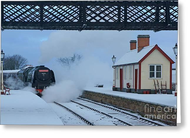 Duchess Greeting Cards - Yesterdays Railway Greeting Card by David Birchall