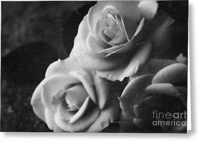 Interior Still Life Greeting Cards - Yesterdays Roses Greeting Card by Clare Bevan
