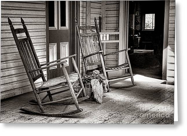 Front Porches Greeting Cards - Yesteryear Greeting Card by Olivier Le Queinec
