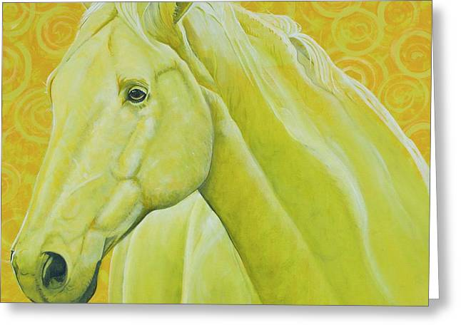 Quarter Horse Greeting Cards - Yet to be Named Greeting Card by Christine Belt