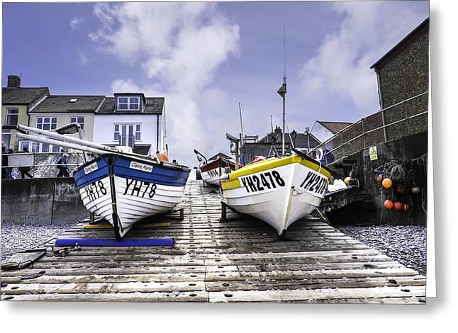 Fishing Boats Greeting Cards - YH boats. Greeting Card by Bill Allsopp