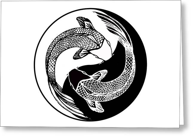 Yin Yang Fish Greeting Card by Stephen Humphries