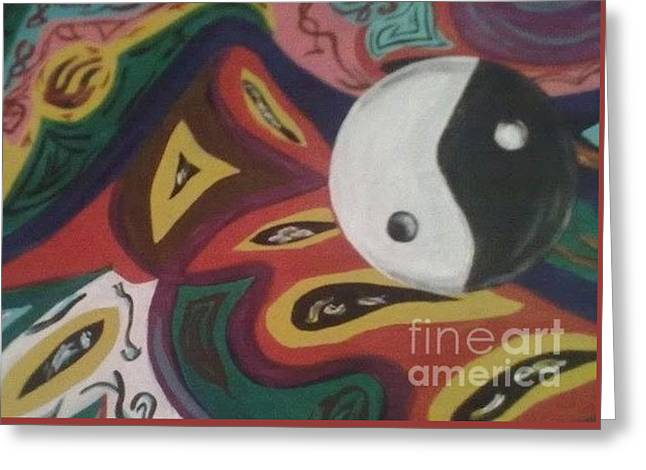 Yang Greeting Cards - Yin Yang Greeting Card by Sandra Noelia