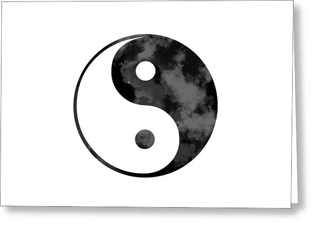 Oriental Greeting Cards - Ying Yang Symbol Greeting Card by Oiyee  At Oystudio