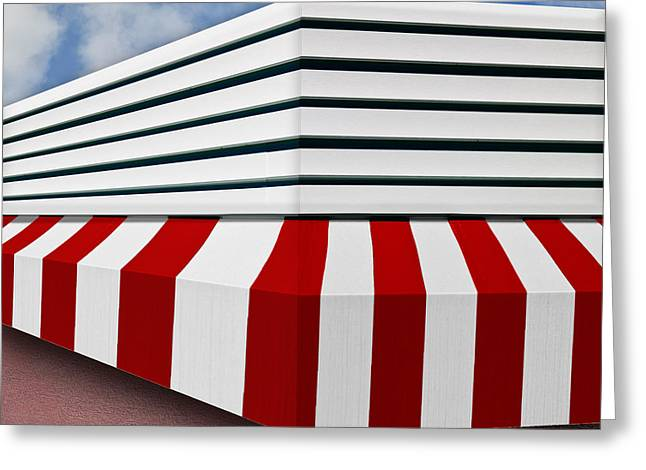 Art Of Building Greeting Cards - Yipes Stripes Greeting Card by Paul Wear