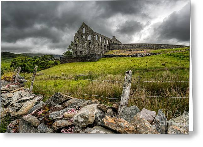 Mills Digital Greeting Cards - Ynys-y-Pandy Slate Mill Greeting Card by Adrian Evans