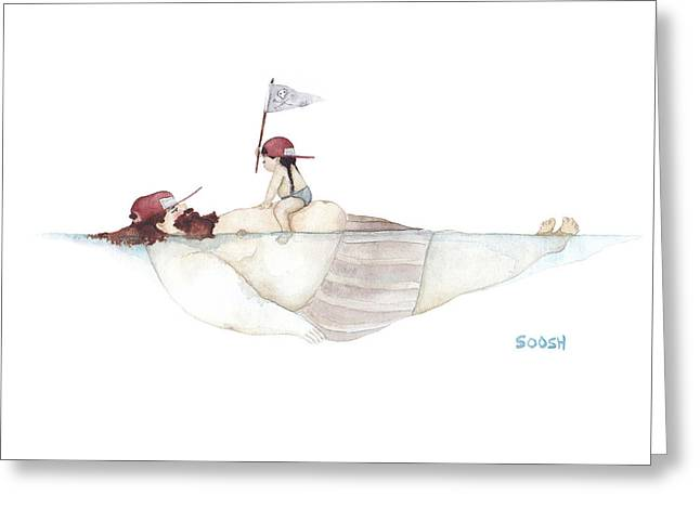Yo Ho Ho Greeting Card by Soosh