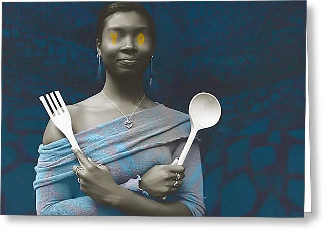 African-american Digital Greeting Cards - Yo Mama Greeting Card by Fern Logan
