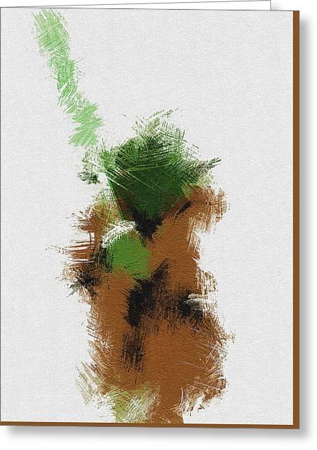 Yoda Greeting Card by Miranda Sether