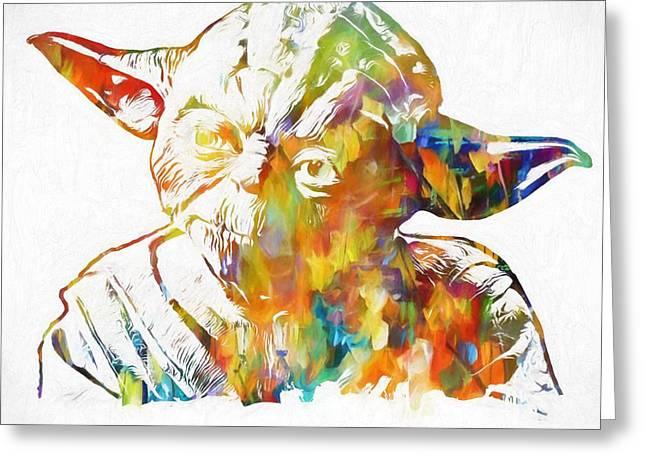 Yoda Star Wars Greeting Card by Dan Sproul