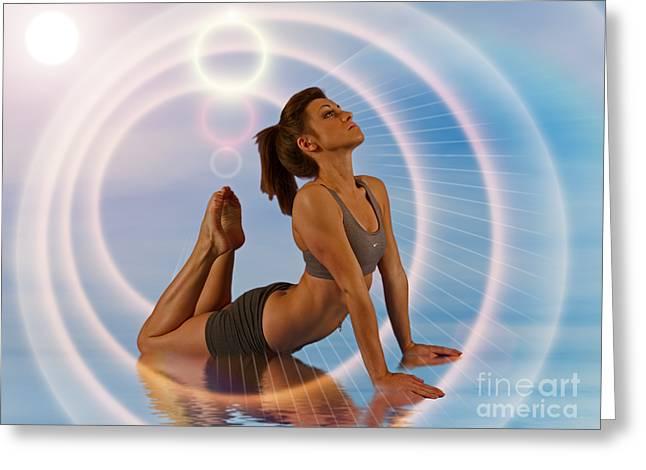 Yoga Girl 1209206 Greeting Card by Rolf Bertram