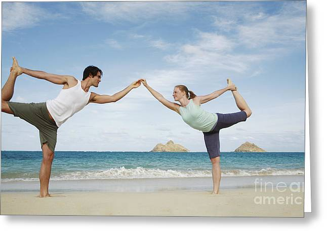 Skinny Greeting Cards - Yoga Shapes Greeting Card by Brandon Tabiolo - Printscapes