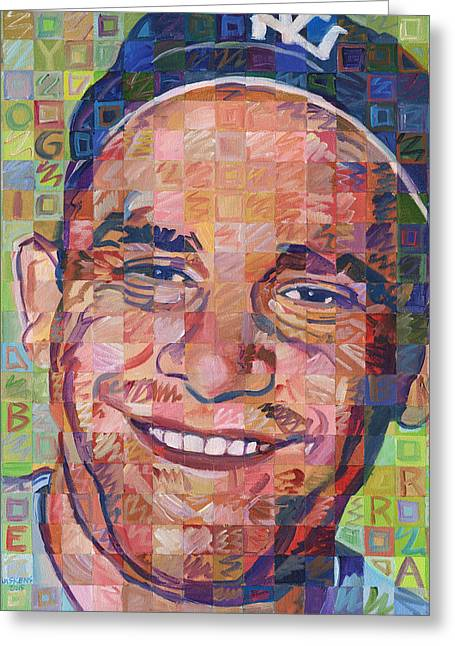 Yogi Berra Greeting Cards - Yogi Berra Greeting Card by Randal Huiskens