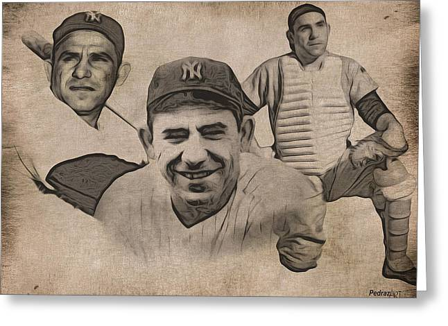 Yogi Berra Greeting Cards - Yogi Greeting Card by PedrazArt Digital Designs