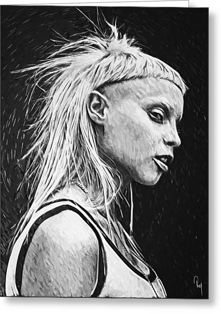 Yolandi Visser Greeting Card by Taylan Soyturk