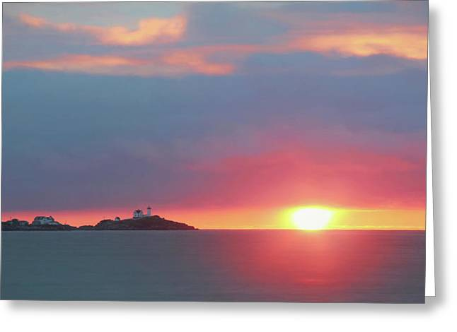 Beautiful Scenery Greeting Cards - York Harbor at Dawn Greeting Card by Lori Deiter