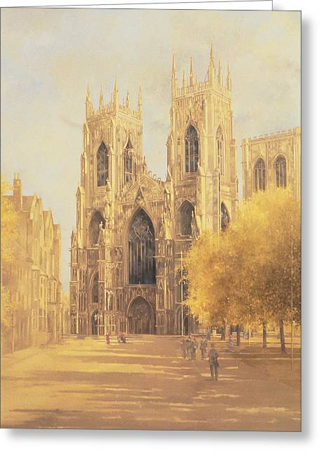 Minster Abbey Greeting Cards - York Minster Greeting Card by Peter Miller