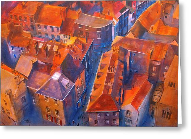 Neil Mcbride Greeting Cards - York Minster Yard Greeting Card by Neil McBride