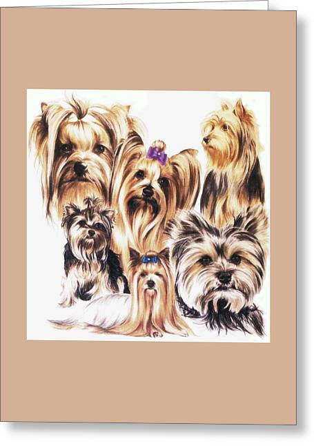 Toy Dog Greeting Cards - Yorkie Greeting Card by Barbara Keith