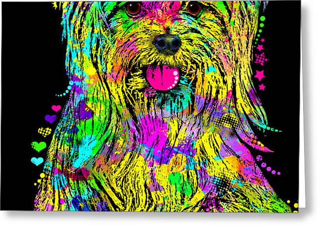 Yorkie Beauty Greeting Card by Zaira Dzhaubaeva