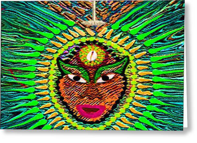 Orishas Greeting Cards - Yoruba Collection  Orula Greeting Card by Andrea Ninetta Hernandez