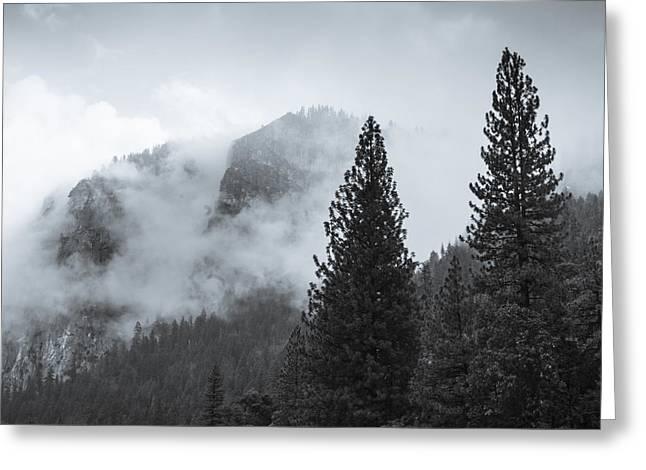 Monolith Greeting Cards - Yosemite Clouds Greeting Card by John Carey