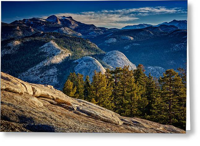 Yosemite Morning Greeting Card by Rick Berk