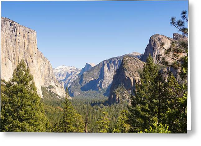 Yosemite Valley Greeting Cards - Yosemite Panoramic Greeting Card by Lutz Baar