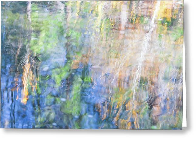 Yosemite Reflections 4 Greeting Card by Larry Marshall