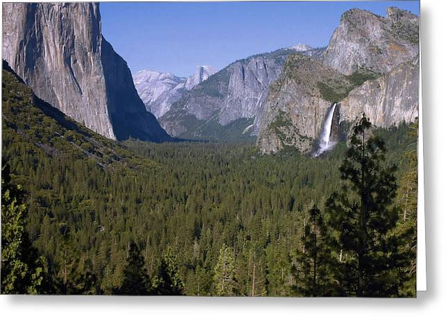 Tunnel View Greeting Cards - Yosemite Tunnel View Greeting Card by Stephen  Vecchiotti