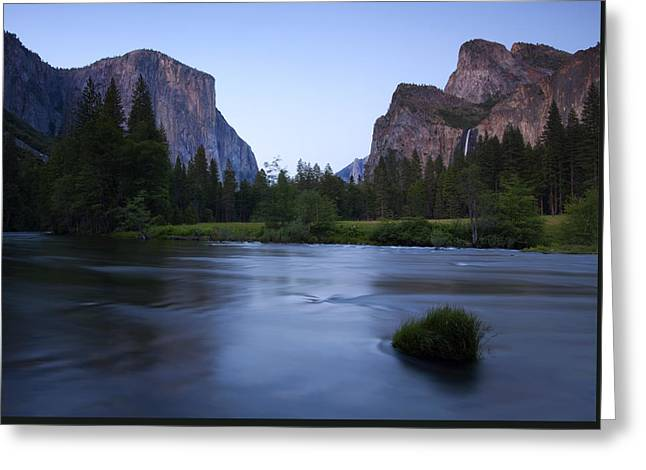 Yosemite Greeting Cards - Yosemite Twilight Greeting Card by Mike  Dawson