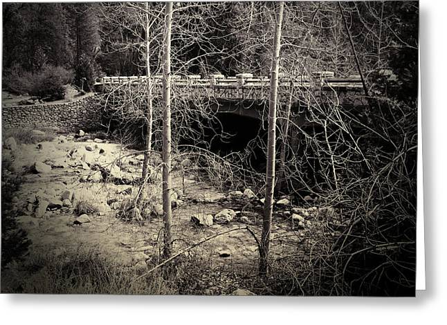 Soft Light Greeting Cards - Yosemite Valley Bridge Greeting Card by Bonnie Bruno