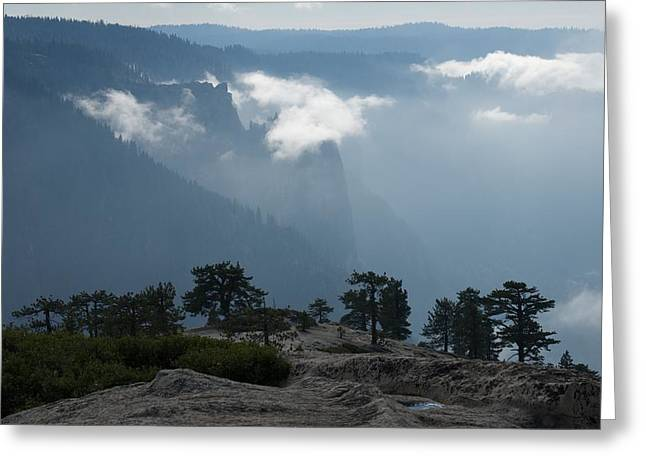 Cathedral Rock Greeting Cards - Yosemite Valley  Greeting Card by Chris  Brewington Photography LLC