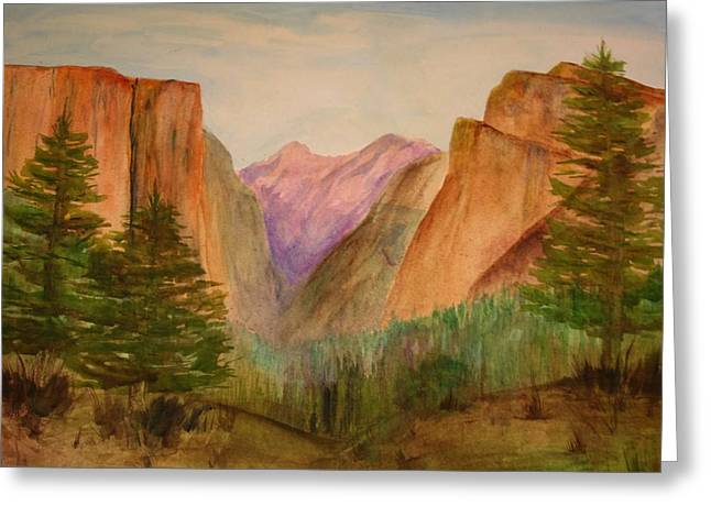 Mountain Valley Greeting Cards - Yosemite Valley Greeting Card by Julie Lueders