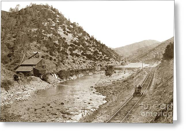 1907 Greeting Cards - Yosemite Valley Railroad At the mine E. A. Cohen photo Sept. 7 1907 Greeting Card by California Views Mr Pat Hathaway Archives