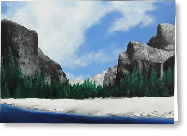 Yosemite Valley Greeting Card by Robert Plog