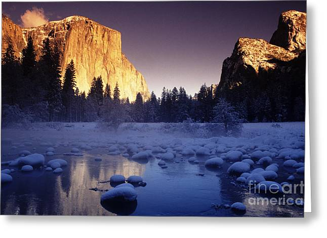 Howell Greeting Cards - Yosemite Valley Sunset Greeting Card by Michael Howell - Printscapes