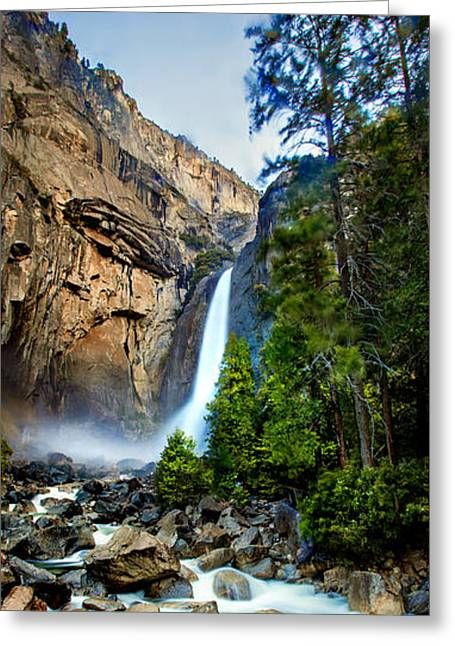 Flora Photo Greeting Cards - Yosemite Waterfall Greeting Card by Az Jackson