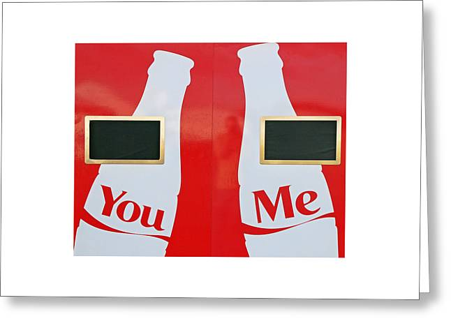 Difficulties Love Greeting Cards - You and Me Greeting Card by Allen Beatty
