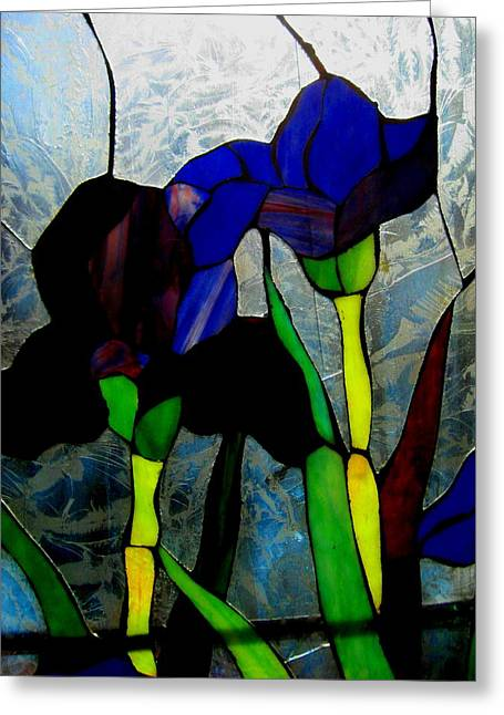 Stainglass Greeting Cards - You And Me Greeting Card by Allen n Lehman