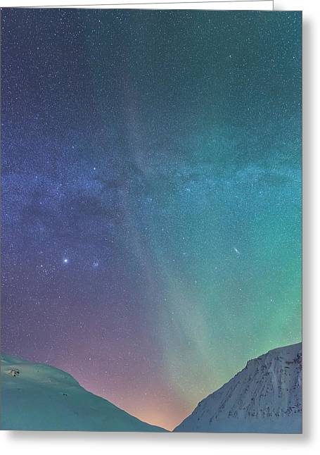 Northern Lights Greeting Cards - You are here Greeting Card by Tor-Ivar Naess