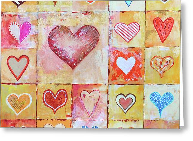 You Can Only See Clearly With Your Heart Greeting Card by Jutta Maria Pusl