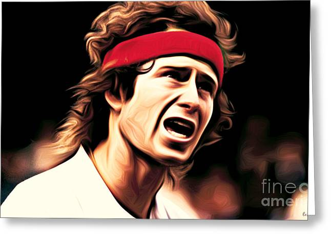 Mcenroe Greeting Cards - You Cannot be SERIOUS Greeting Card by Larry Espinoza
