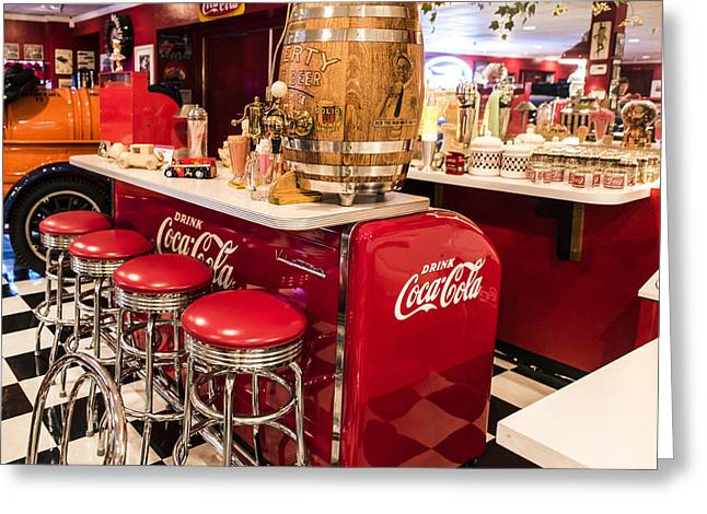 Coca Cola.coke-a-cola Greeting Cards - You Deserve A Break Today Greeting Card by Jon Berghoff