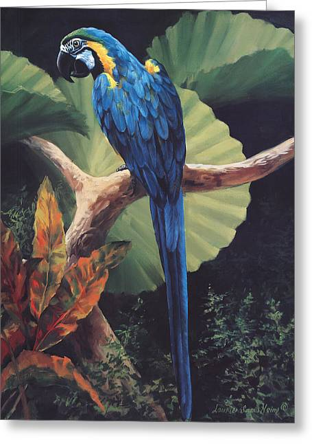 Blue And Green Greeting Cards - You Dont Say Greeting Card by Laurie Hein