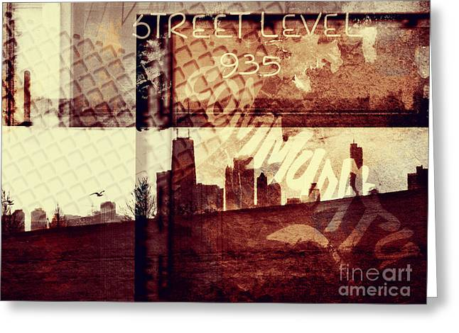 Graffiti Greeting Cards - You Held My Hand Softly Through the Humid Summer Streets Greeting Card by Dana DiPasquale